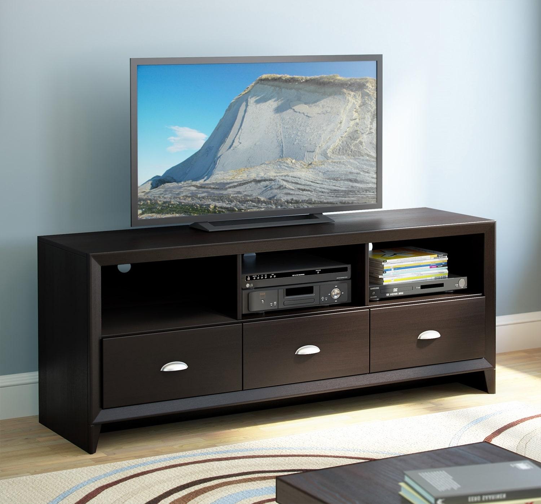Televisions - Hanover TV Credenza - Espresso