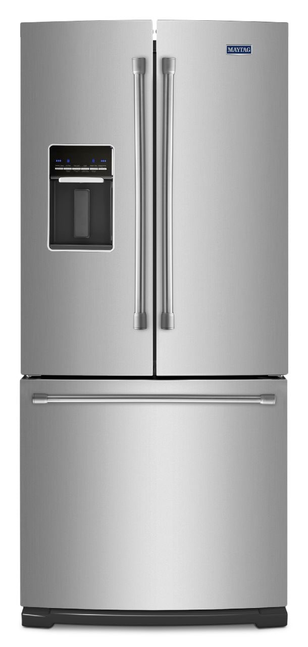 Refrigerators and Freezers - Maytag Stainless Steel French Door Refrigerator (19.6 Cu. Ft.) - MFW2055DRM