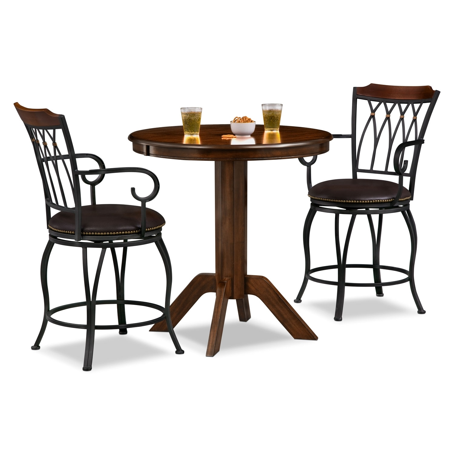welch porter 3 pc counter height dinette