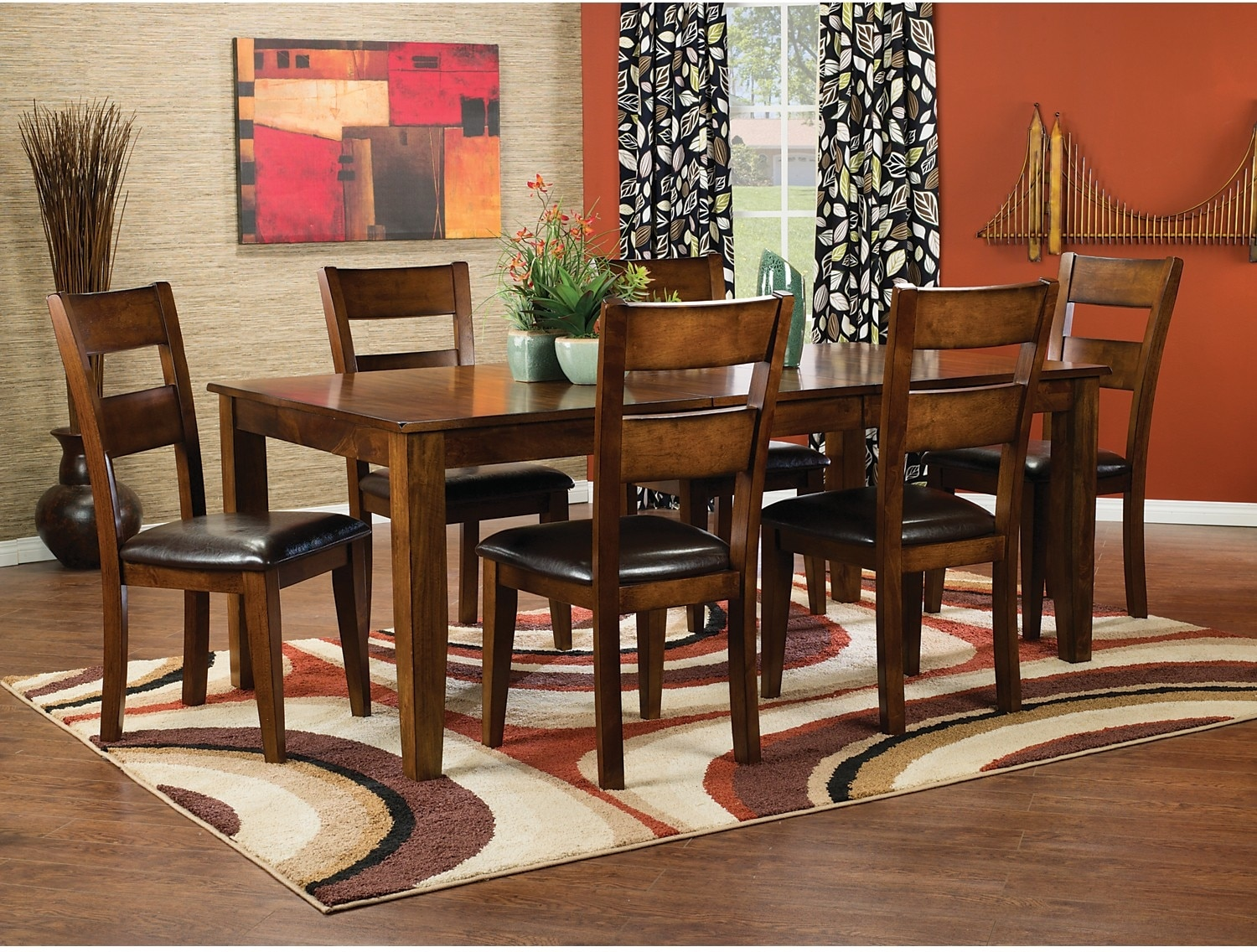 Dining Room Furniture - Dakota Light 8-Piece Dining Package