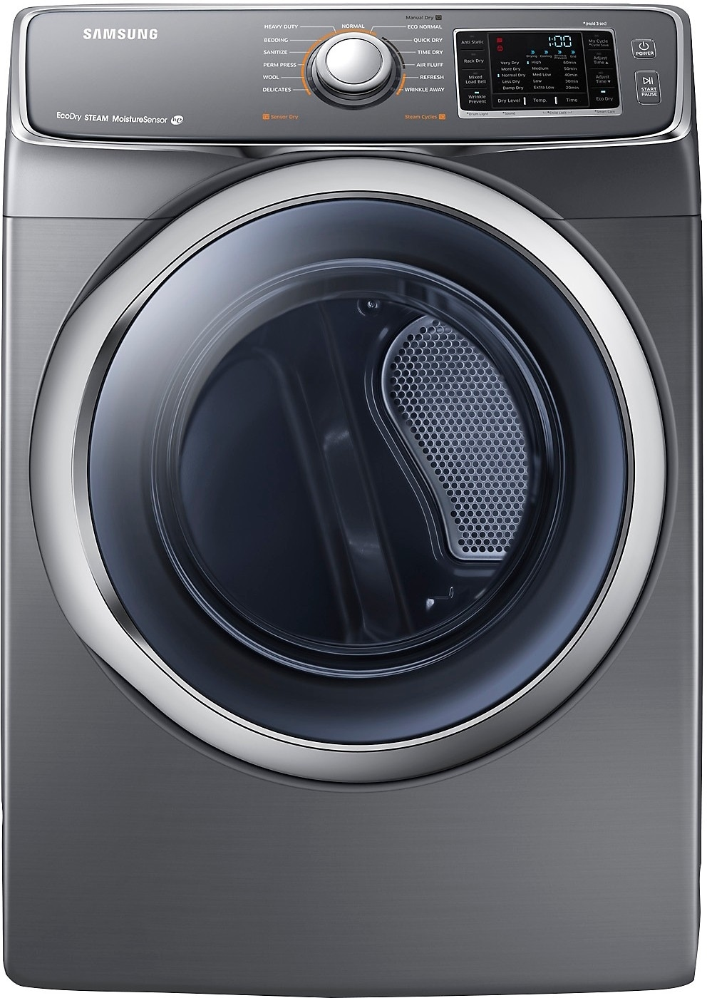 Washers and Dryers - Samsung 7.5 Cu. Ft. Electric Dryer with Ecodry – Platinum