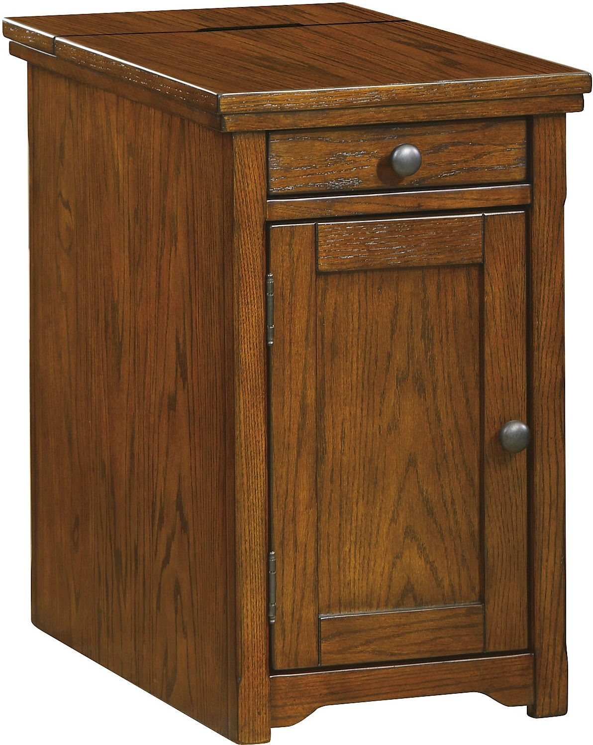 Coventry Accent Table – Burnished Brown
