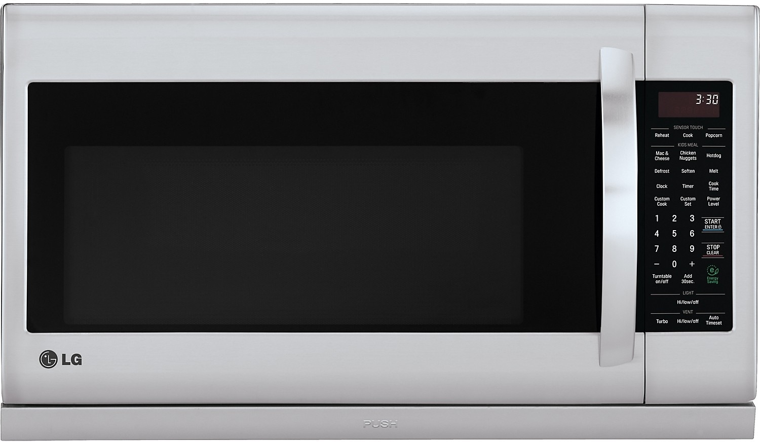 Cooking Products - LG 2 Cu. Ft. Over-the-Range Microwave - Stainless Steel