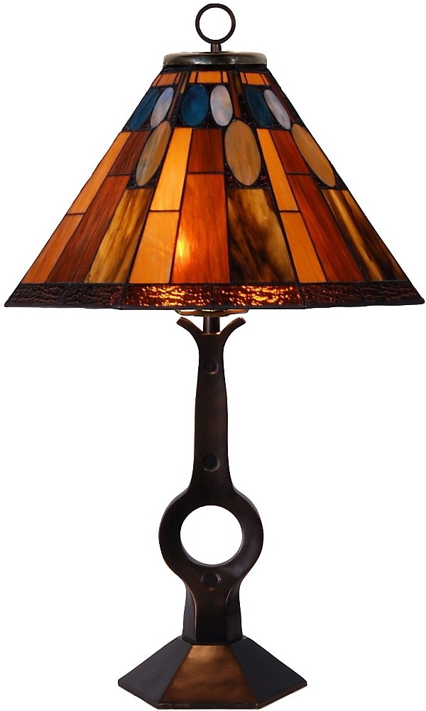 Home Accessories - Gallery Hill Table Lamp with Stained Glass Shade