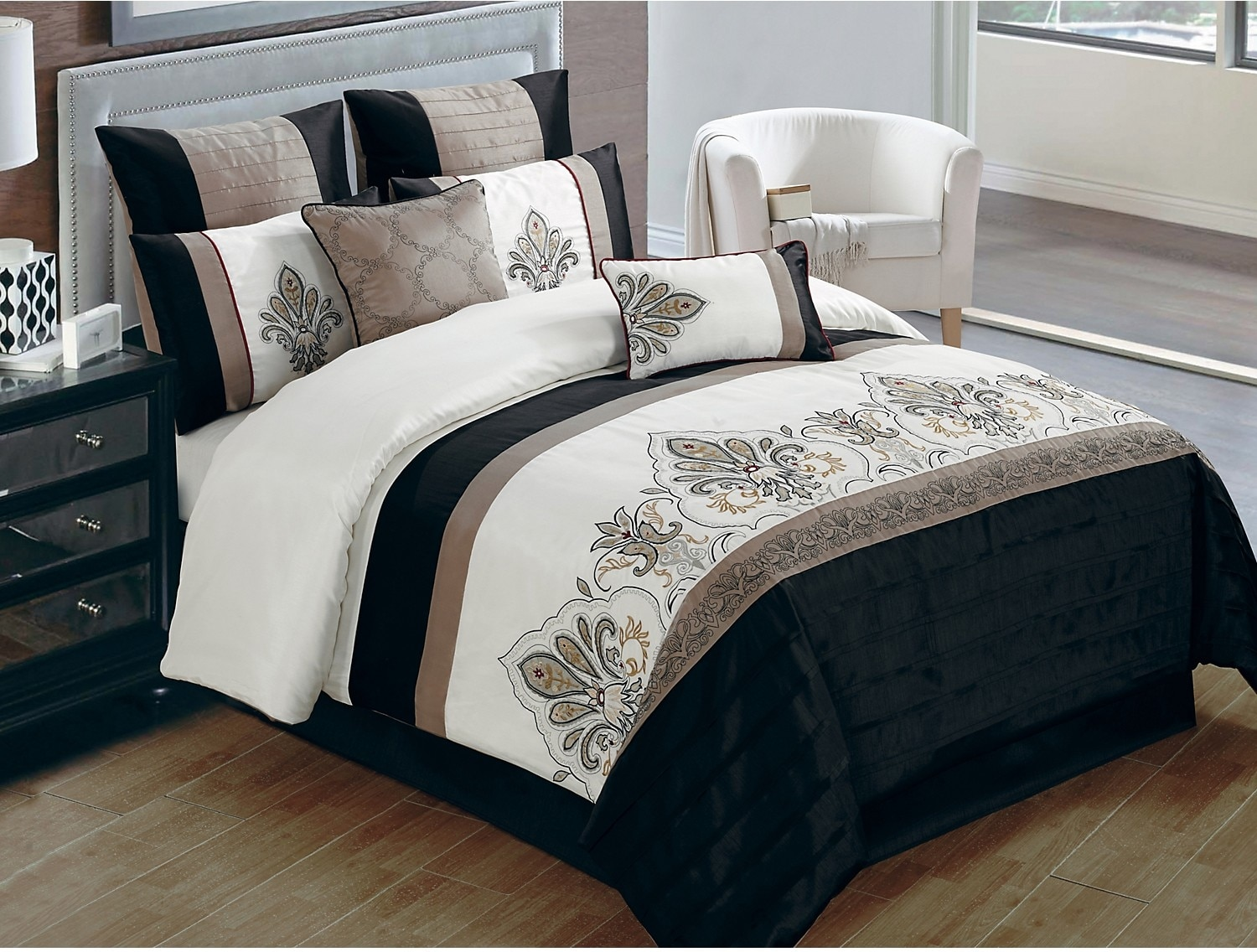 Mattresses and Bedding - Jacobson 8-Piece King Comforter Set