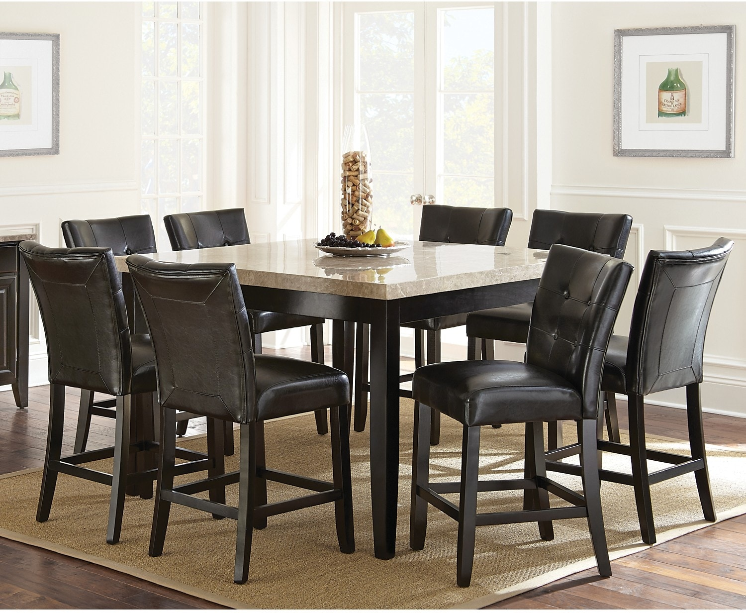 Dining Room Furniture - Montibello 7-Piece Counter-Height Dining Package