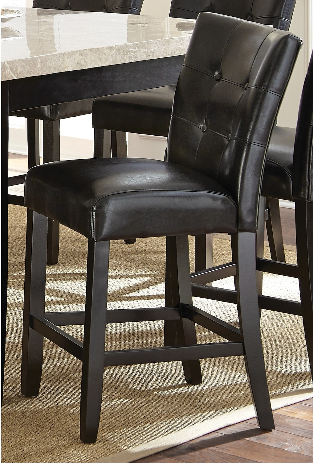 Dining Room Furniture - Montibello Counter-Height Dining Chair - Espresso