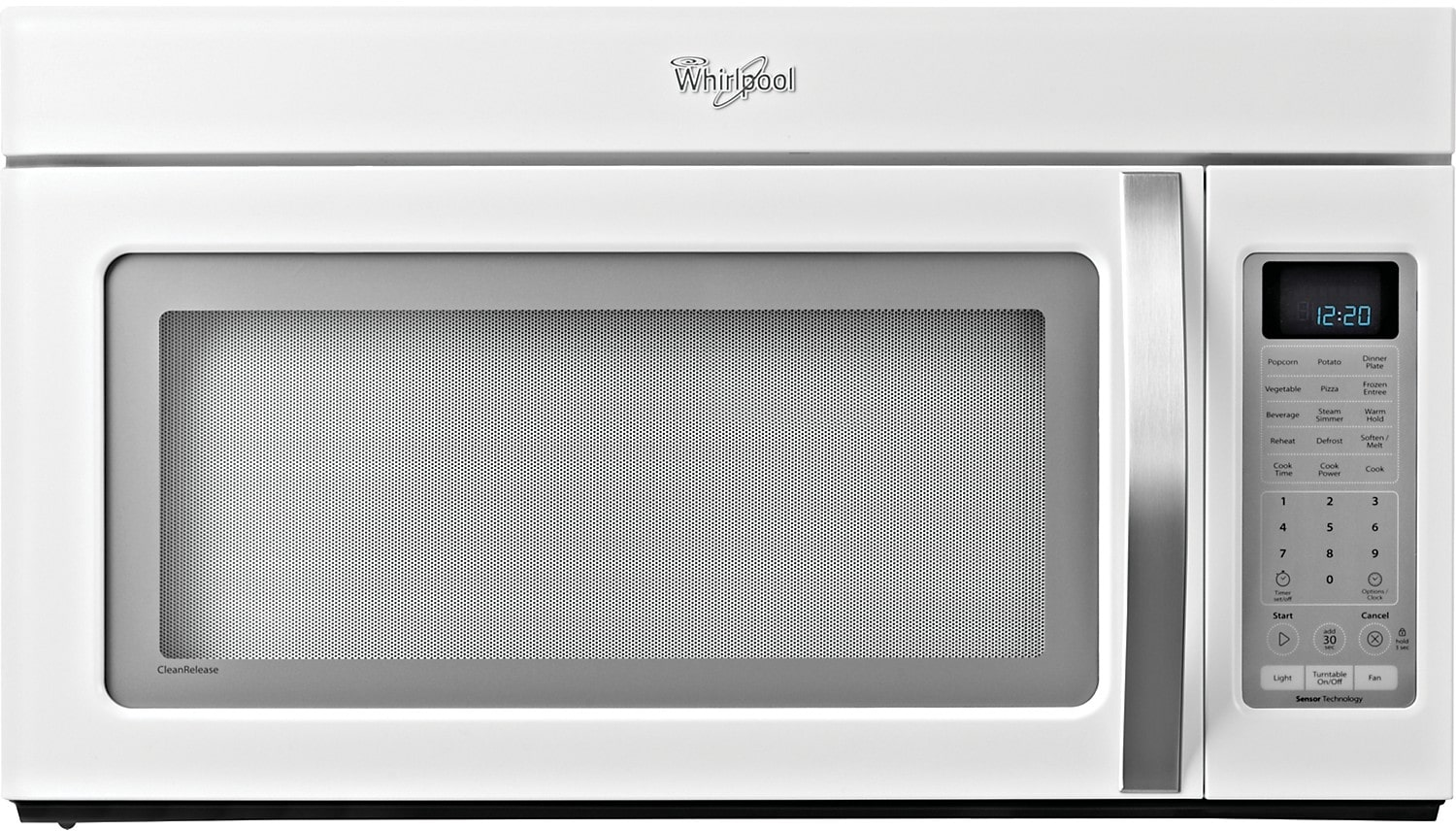 Whirlpool 2.0 Cu. Ft. Over-the-Range Microwave with CleanRelease® Interior – White