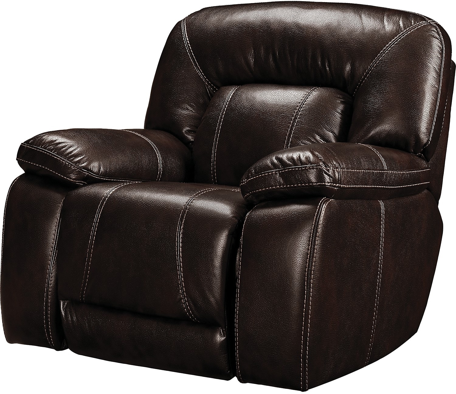 Living Room Furniture - Kimba Leather-Look Fabric Reclining Chair – Brown