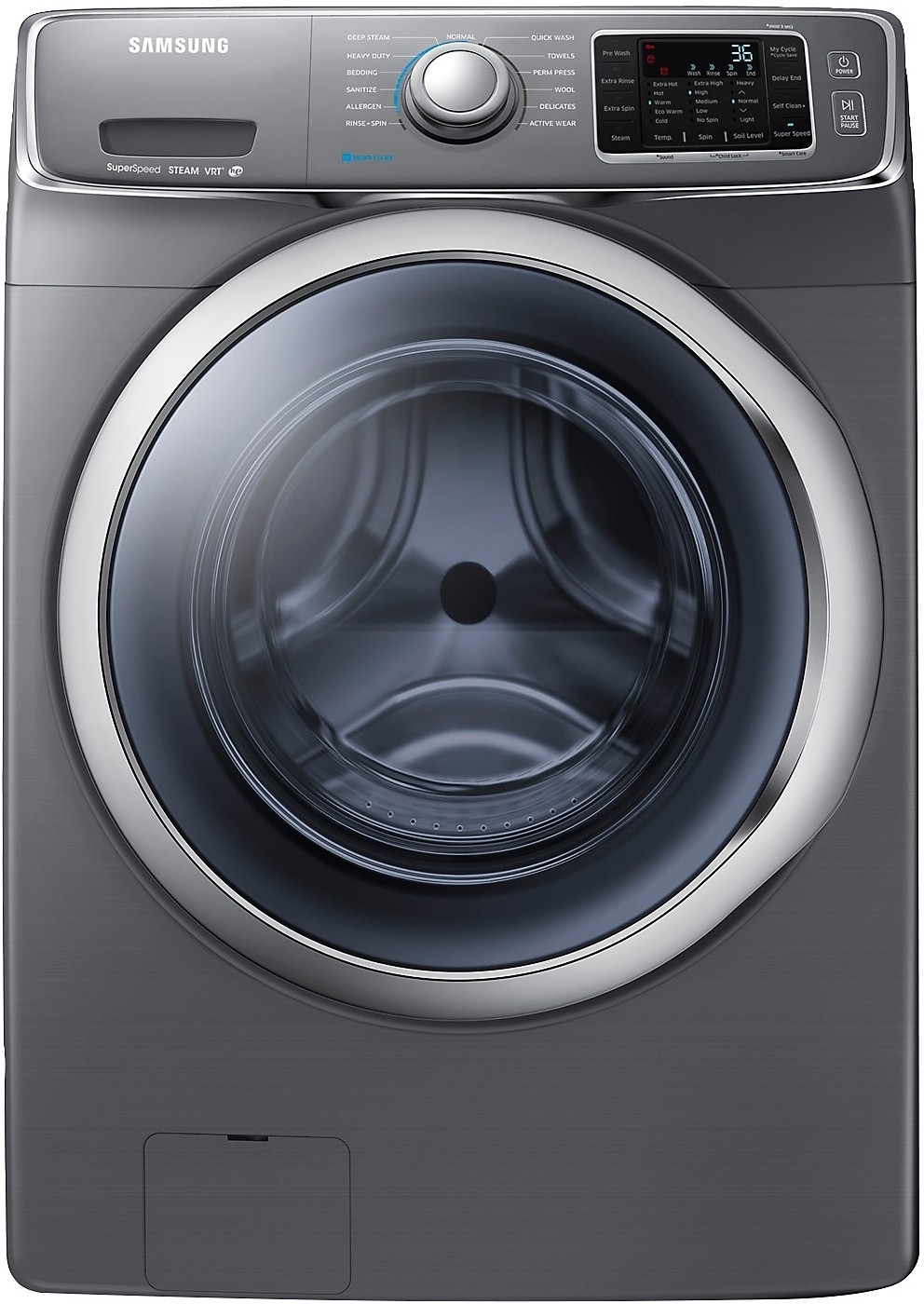 Washers and Dryers - Samsung 4.8 Cu. Ft.  Front-Load Washer – Platinum