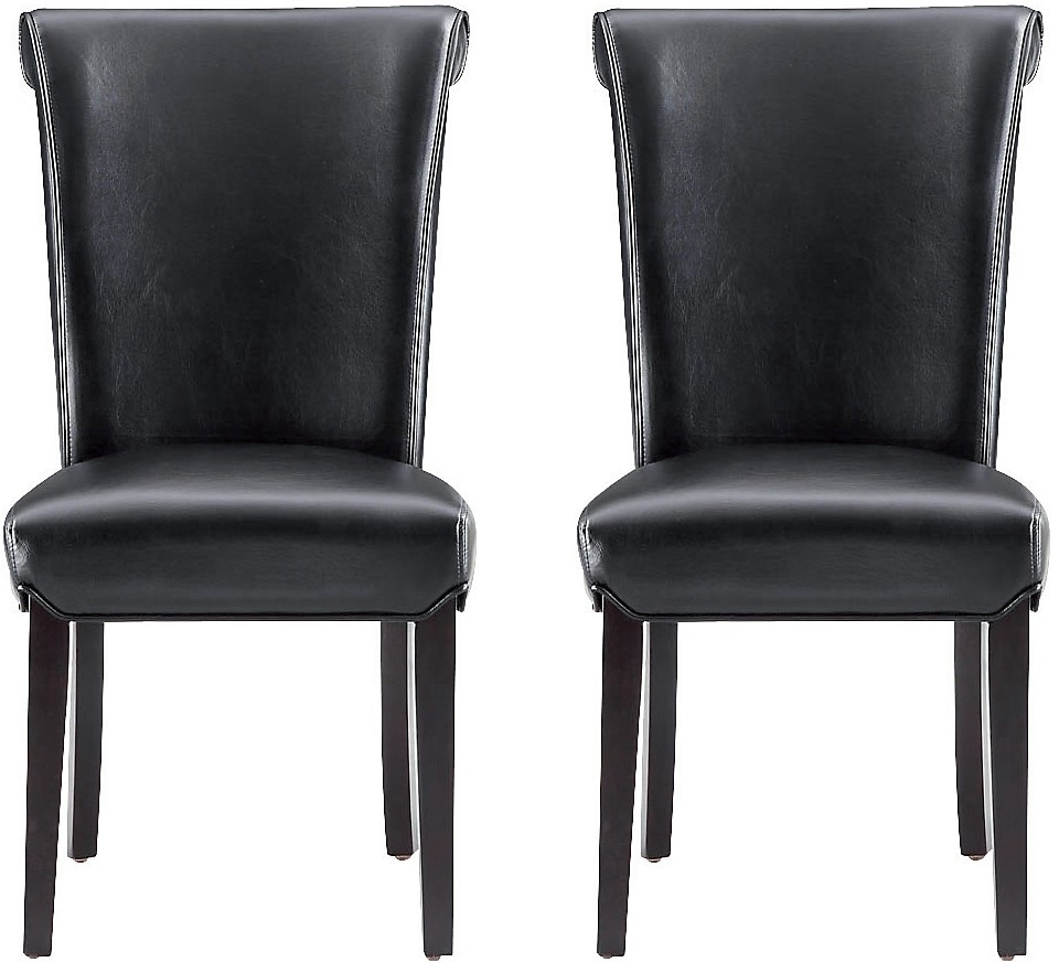 Dining Room Furniture - Brogan Accent Chairs, Set of 2 - Black