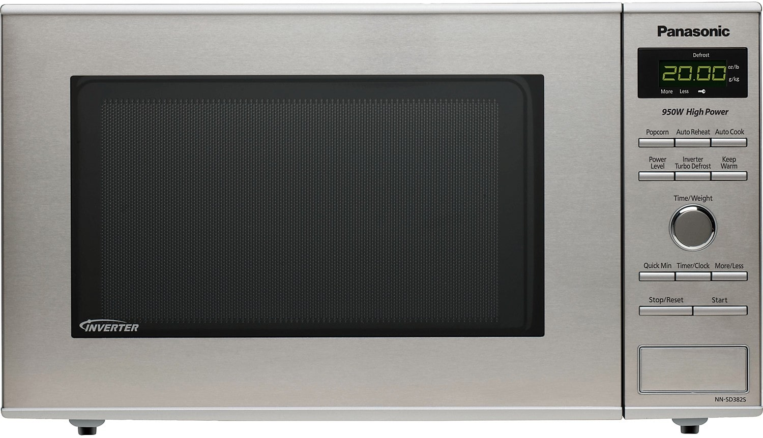 Panasonic 0.8 Cu. Ft. Countertop Microwave Oven – Stainless Steel