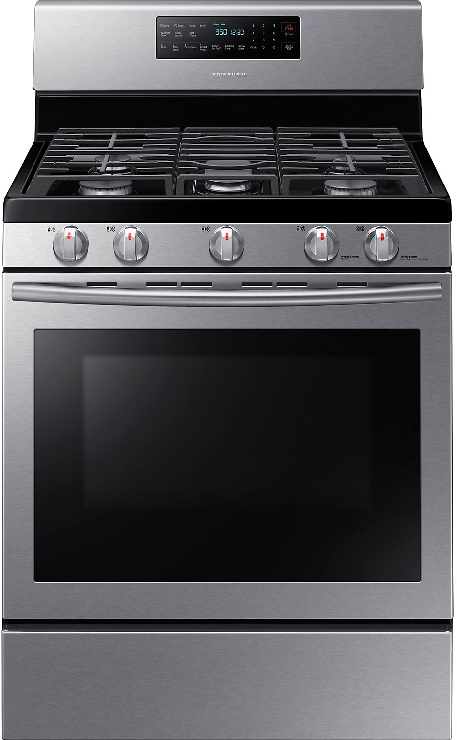 samsung free standing gas range stainless steel the brick. Black Bedroom Furniture Sets. Home Design Ideas