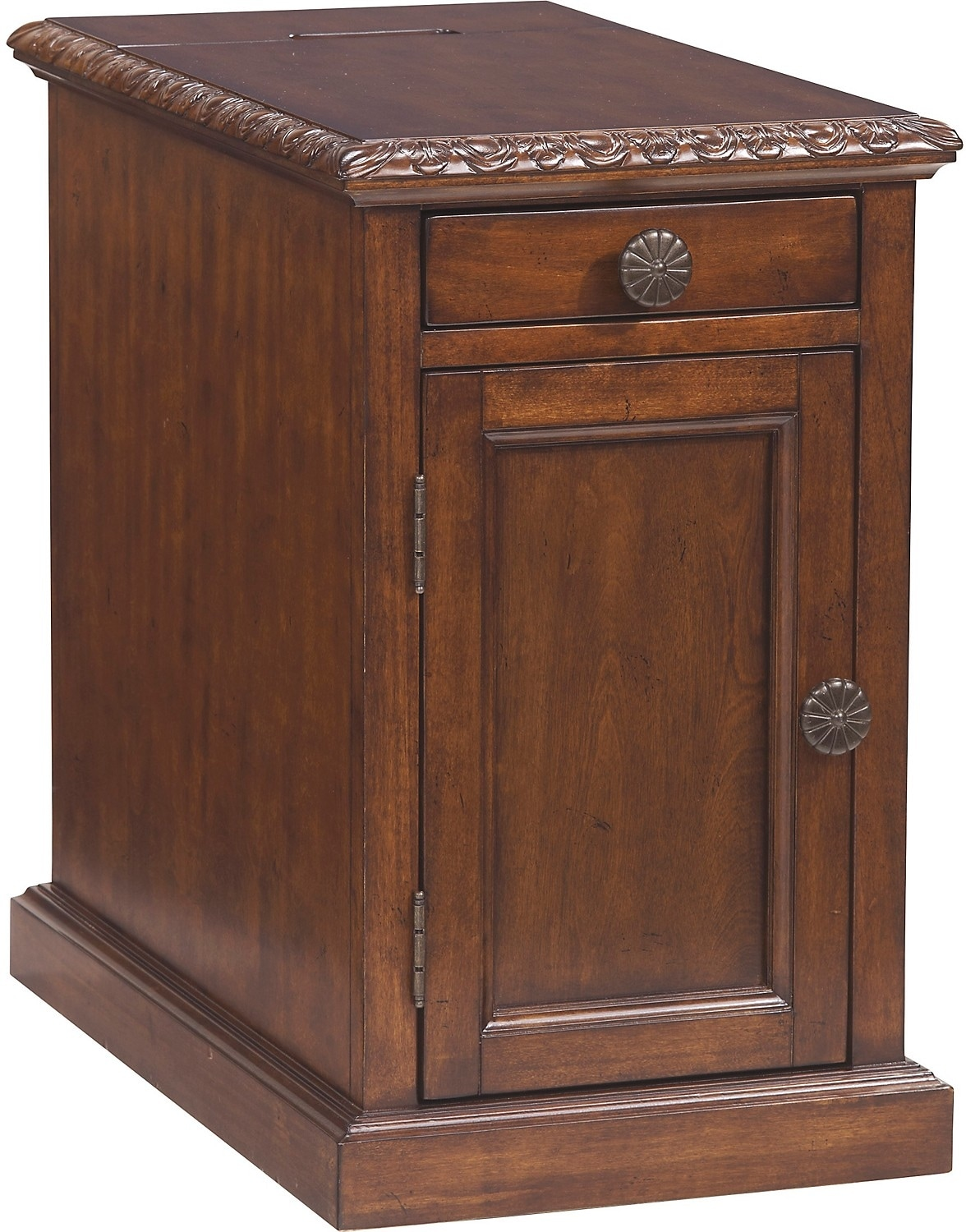 Coventry Accent Table – Ornate Brown