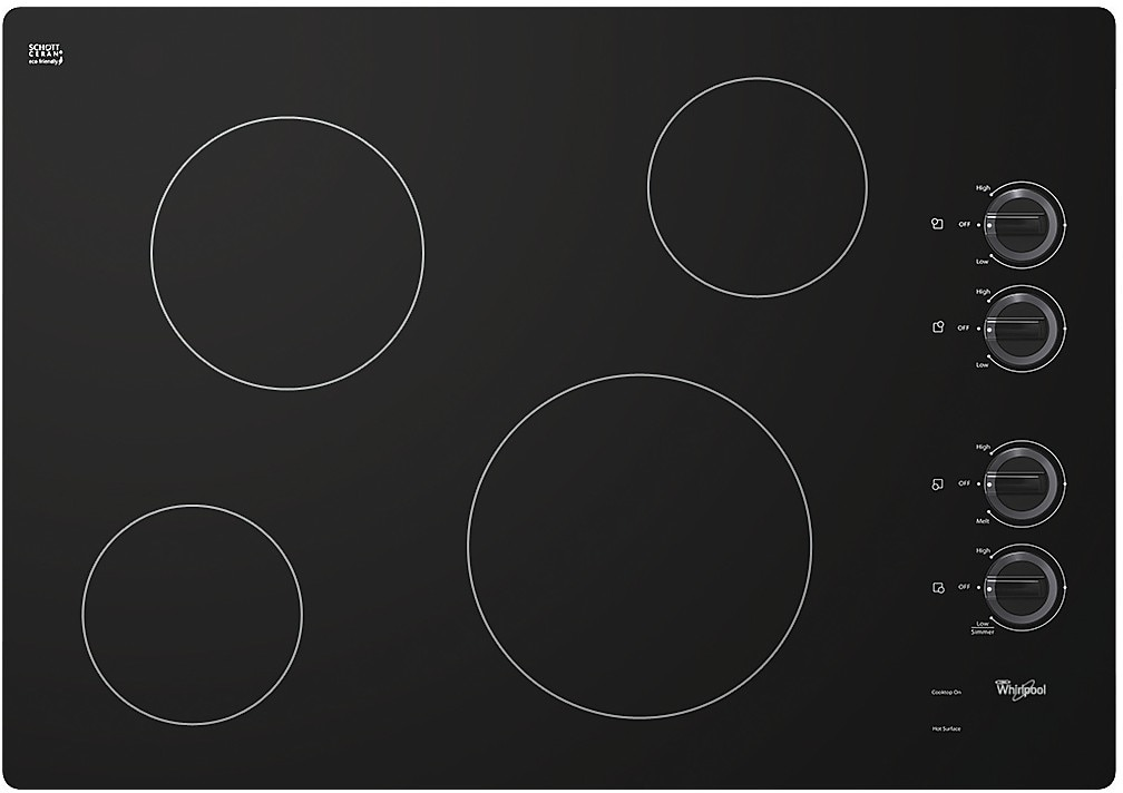 "Cooking Products - Whirlpool 30"" Electric Cooktop with Schott Ceran® Surface - Black"