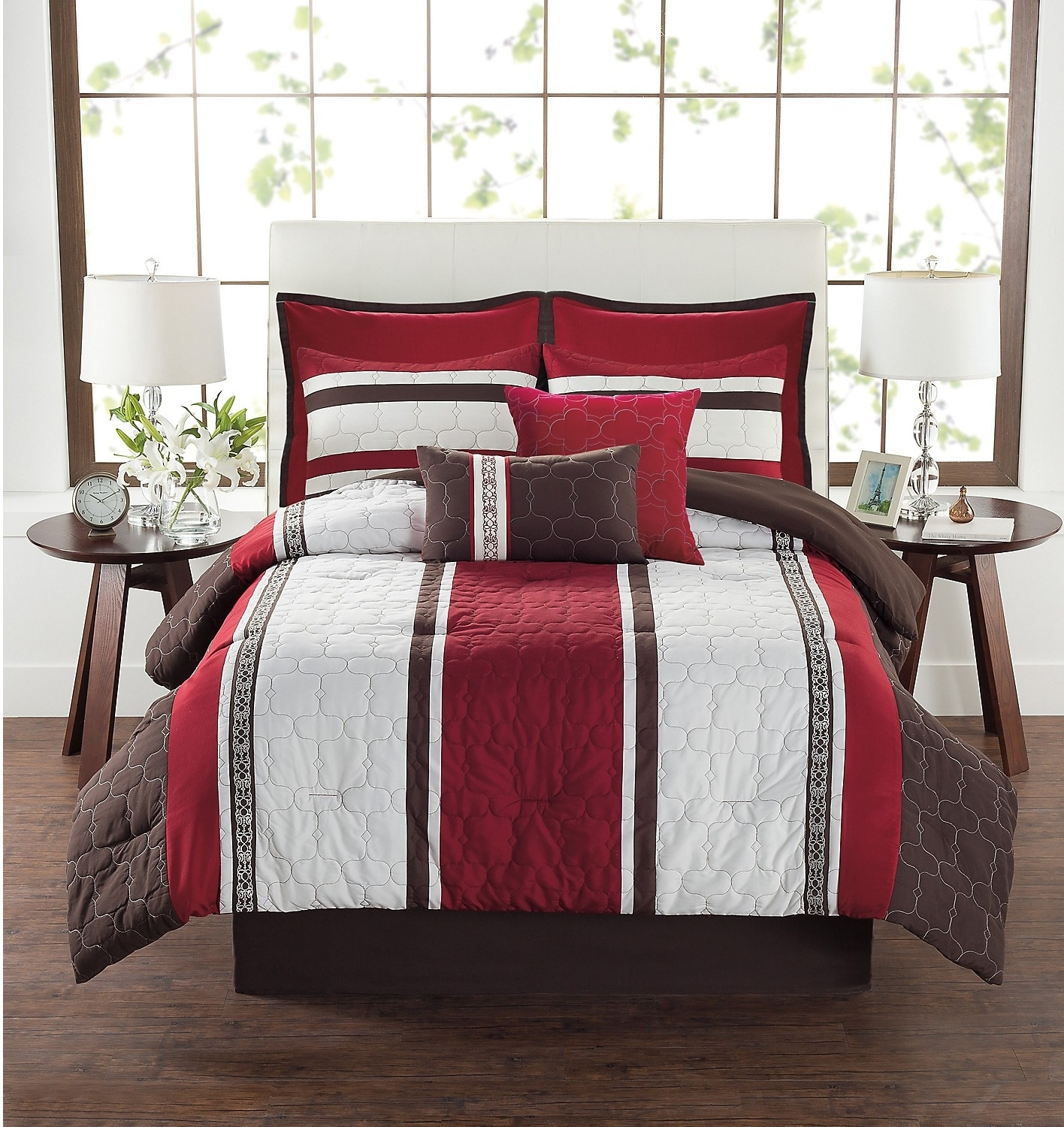 Accent and Occasional Furniture - DARREN 8-Piece King Comforter Set