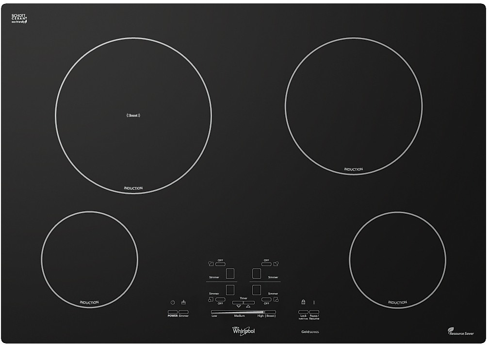 "Cooking Products - Whirlpool Gold® 30"" Electric Induction Cooktop - Black"