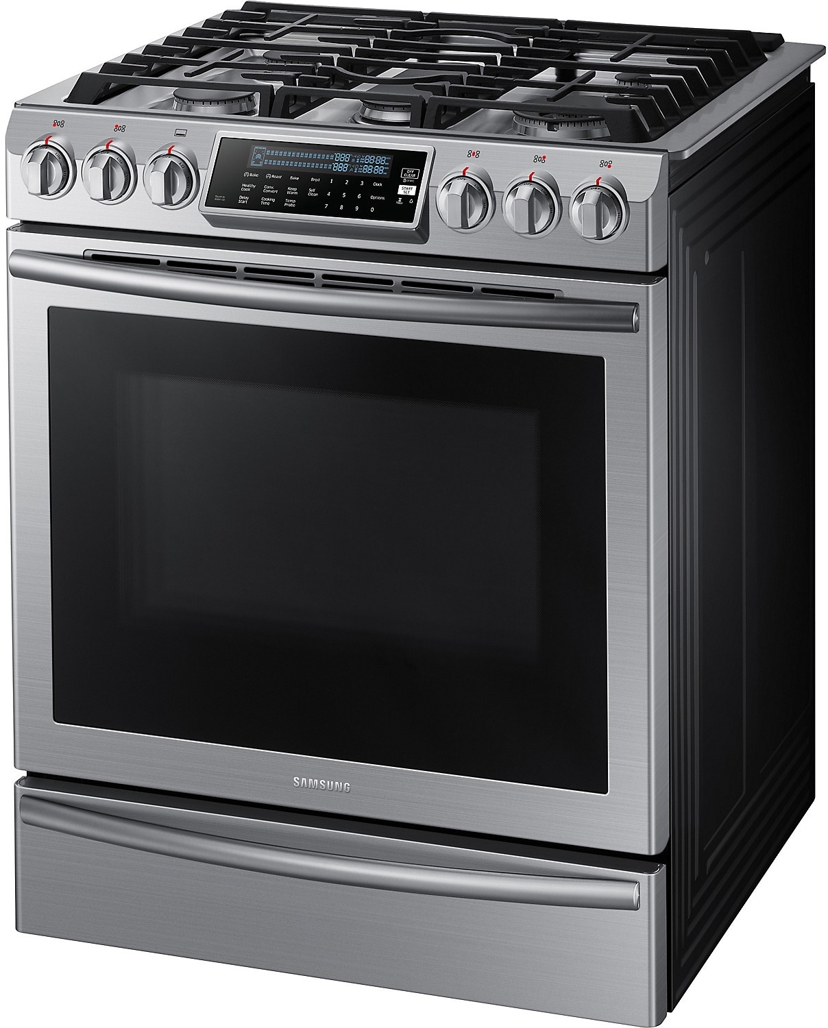 ft convection slidein gas range u2013 stainless steel the brick