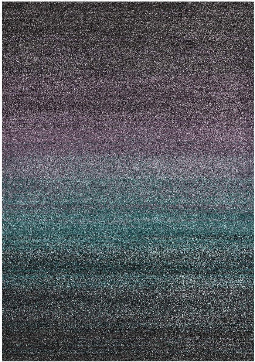 Ashbury Purple, Turquoise, Grey and Black Area Rug – 5' x 8'