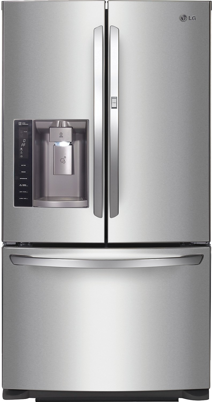 Refrigerators and Freezers - LG 26.6 Cu. Ft. 3-Door Refrigerator – Stainless Steel
