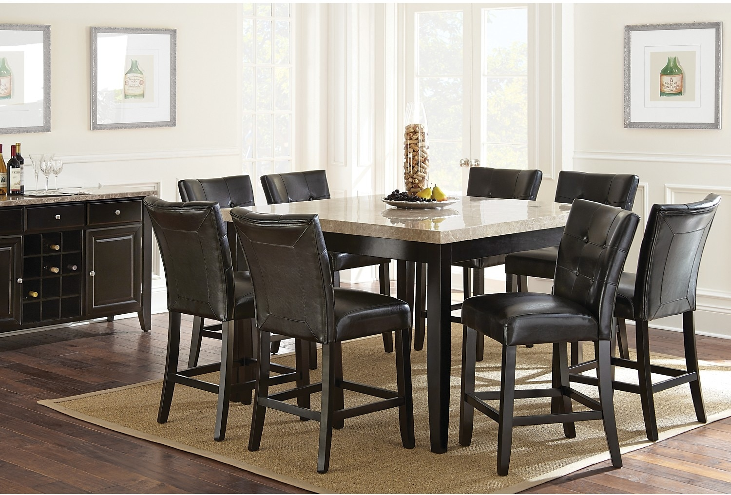 Dining Room Furniture - Montibello 8-Piece Counter-Height Dining Package