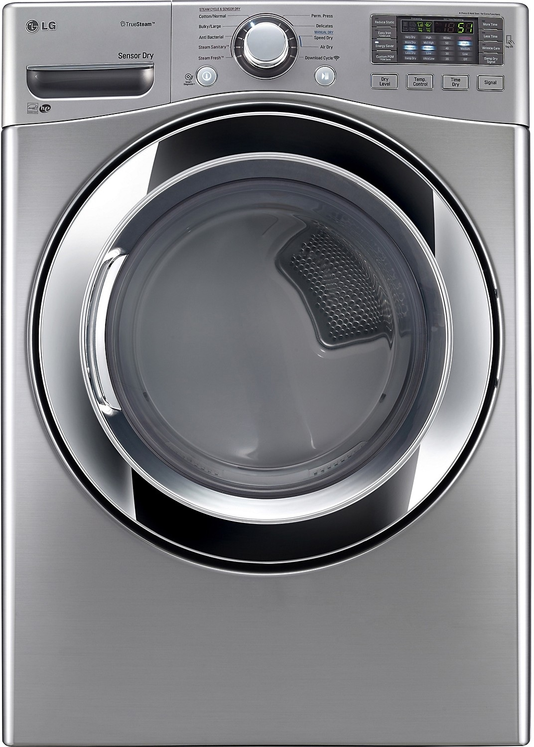 Washers and Dryers - LG 7.4 Cu. Ft. Ultra-Large Capacity Electric SteamDryer™ – Graphite Steel