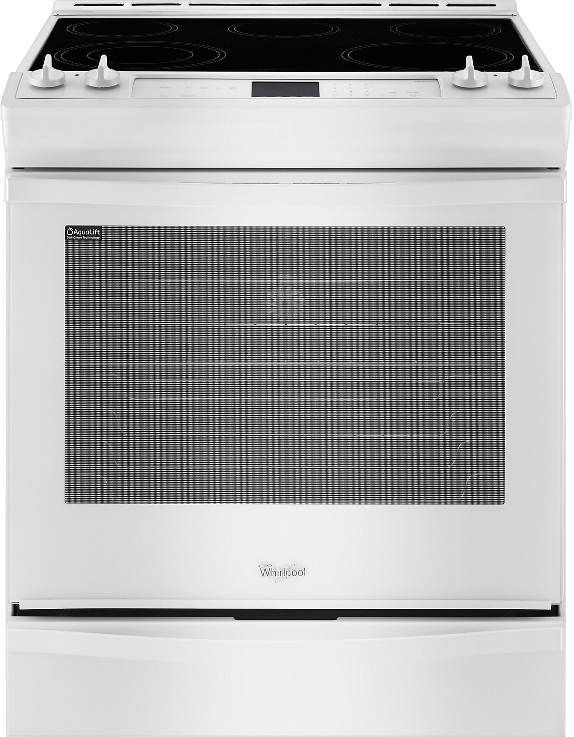 Cooking Products - Whirlpool 6.2 Cu. Ft. Electric Range with TimeSavor™ Convection - White