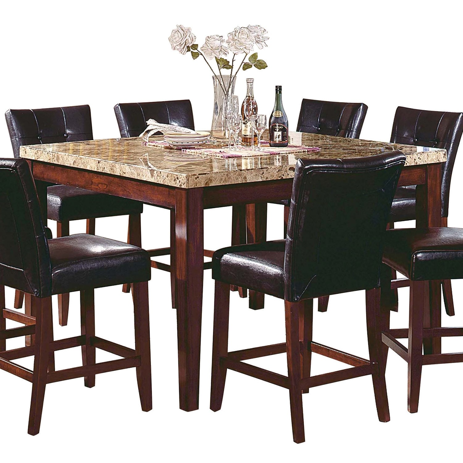 Montibello 9 Piece Pub Height Dining Package