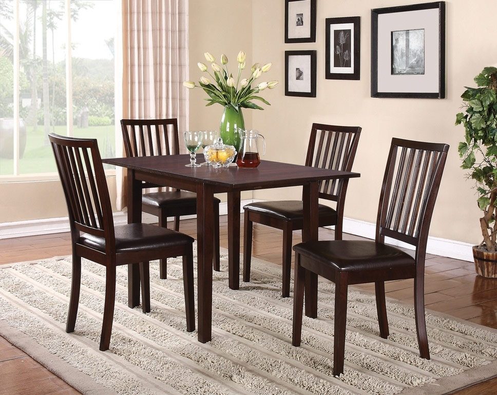 Dining Room Furniture - Dakota 5-Piece Square Table Dining Package