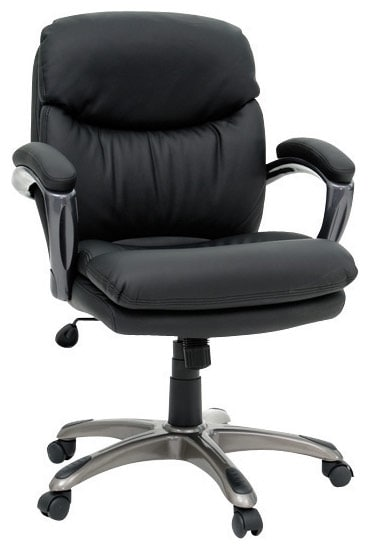 Home Office Furniture - Orlando Black Vinyl Duraplush™ Manager's Chair
