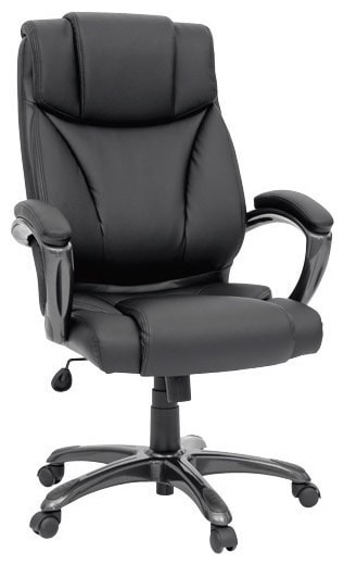 Home Office Furniture - Columbus Black Bonded Leather Executive Chair