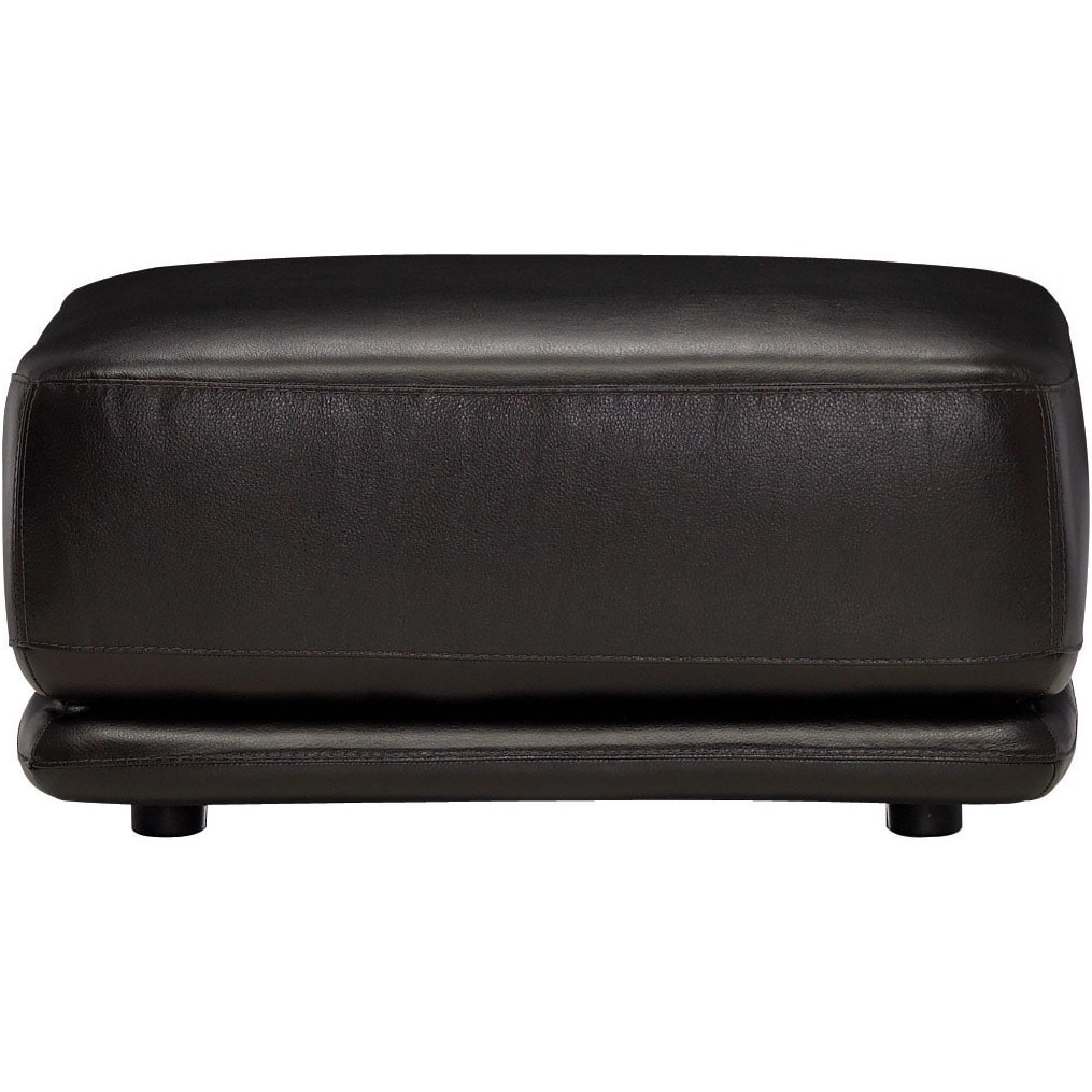 Living Room Furniture - Chateau d'Ax 100% Genuine Leather Ottoman - Dark Chocolate