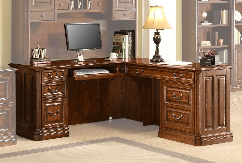Johanne Corner Desk - Chocolate Oak