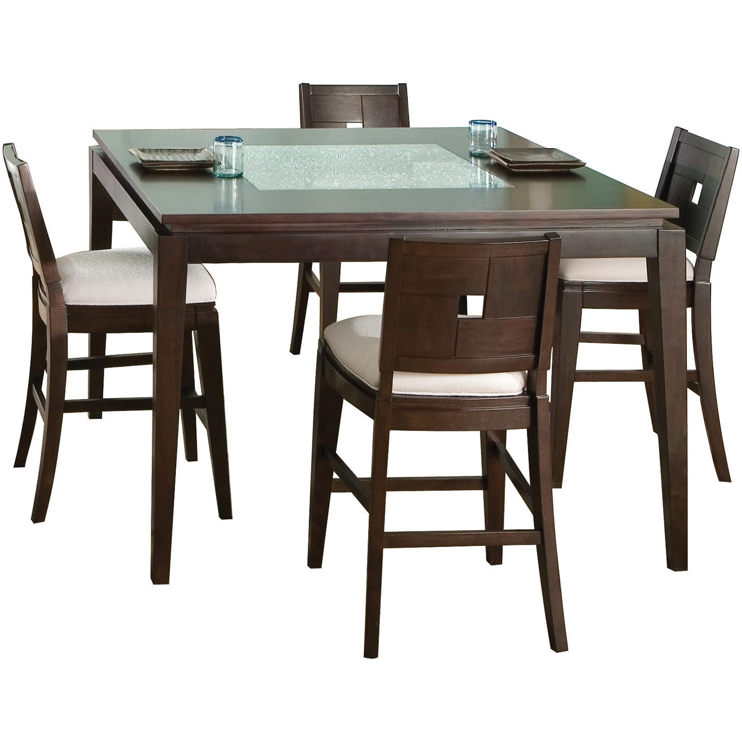 Dining Room Furniture - Spiga 5 Piece Counter-Height Dining Package