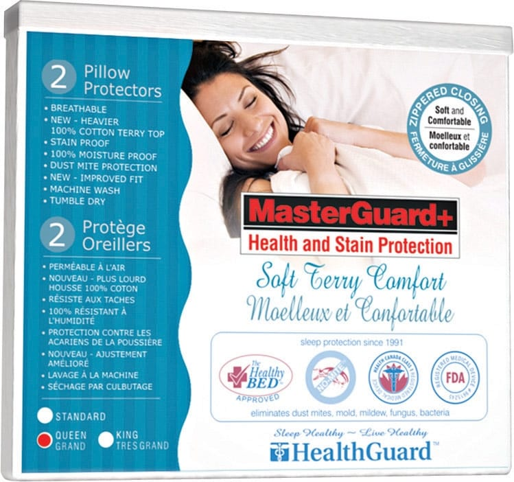 Mattresses and Bedding - Queen Platinum Soft Terry Pillow Protector - 2 Pack