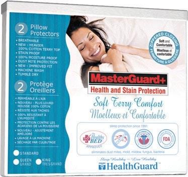 Standard Platinum Soft Terry Pillow Protector - Single
