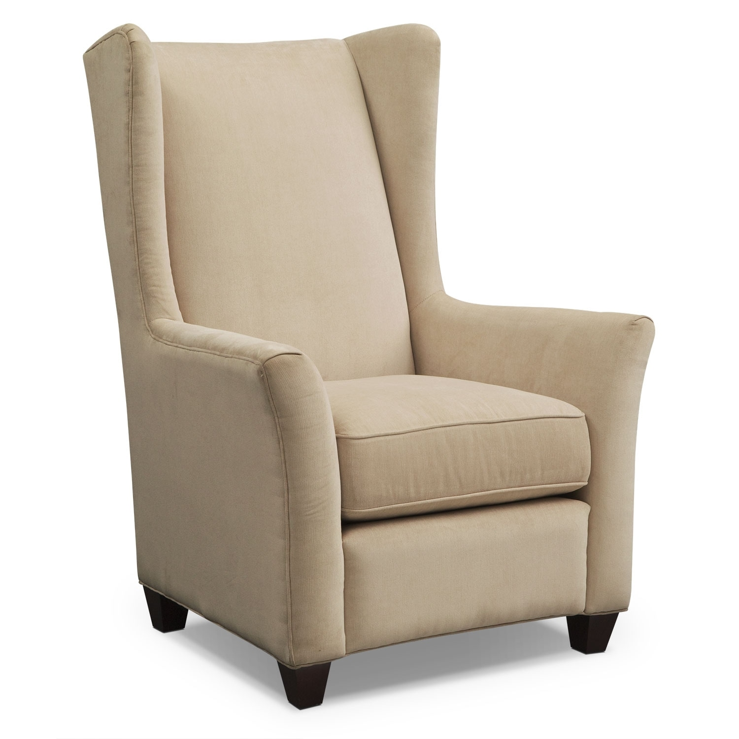 Ivory Living Room Furniture: Corrine Accent Chair - Ivory