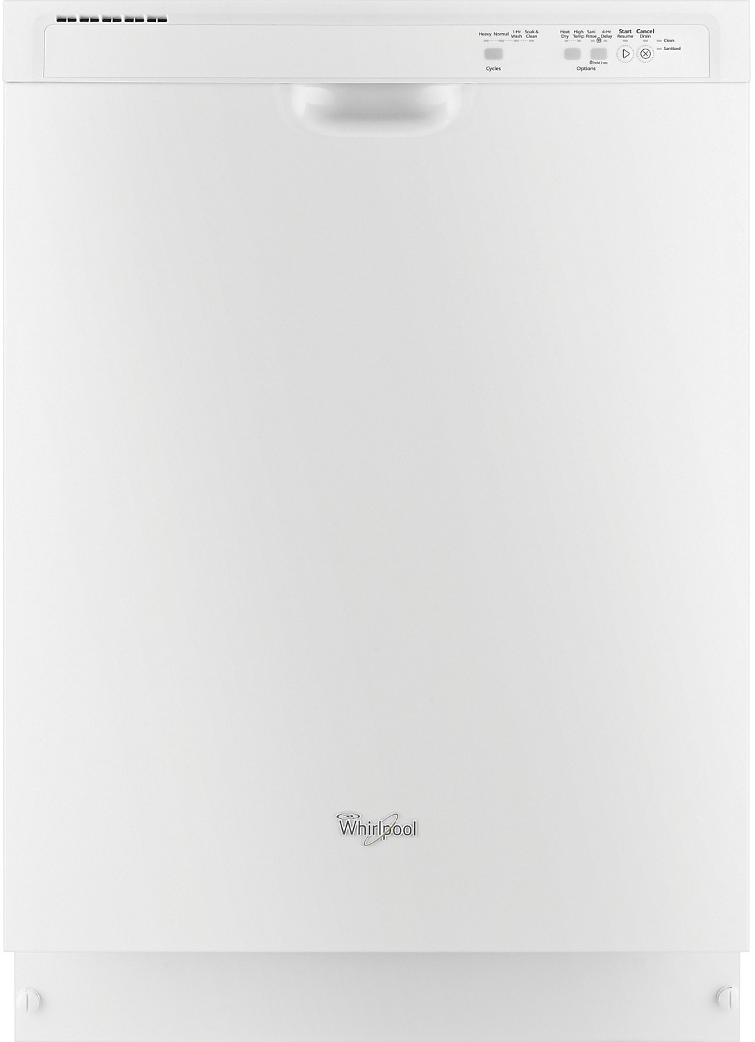 """Clean-Up - Whirlpool 24"""" Built-In Dishwasher – White"""