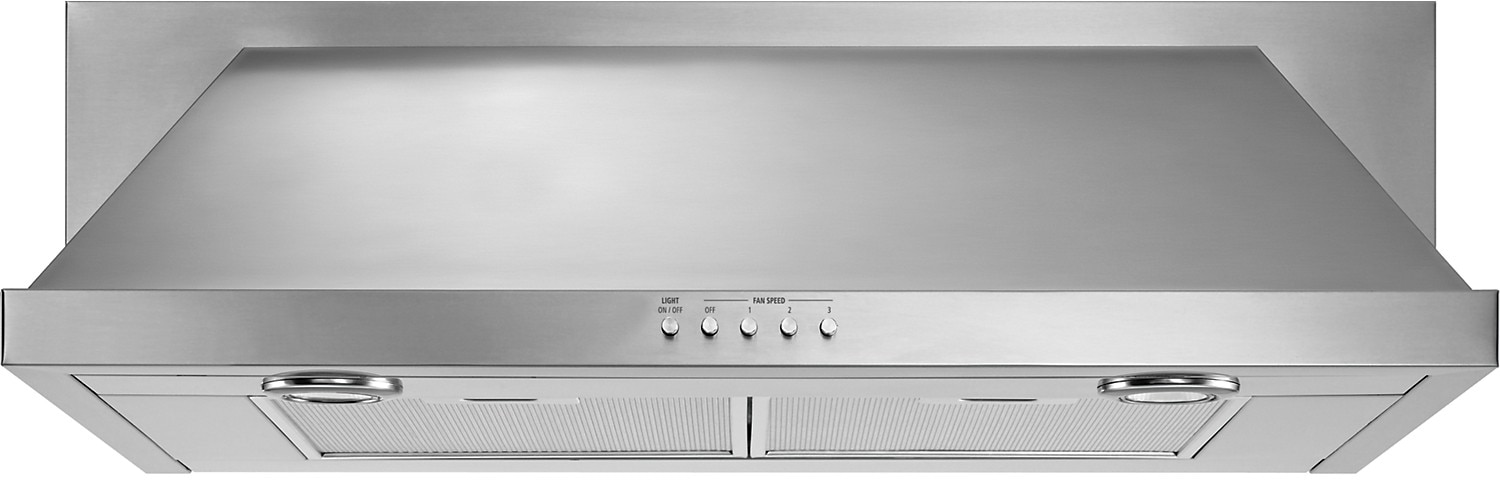 "Appliance Accessories - Whirlpool 30"" Convertible Under-Cabinet Range Hood – Stainless Steel"