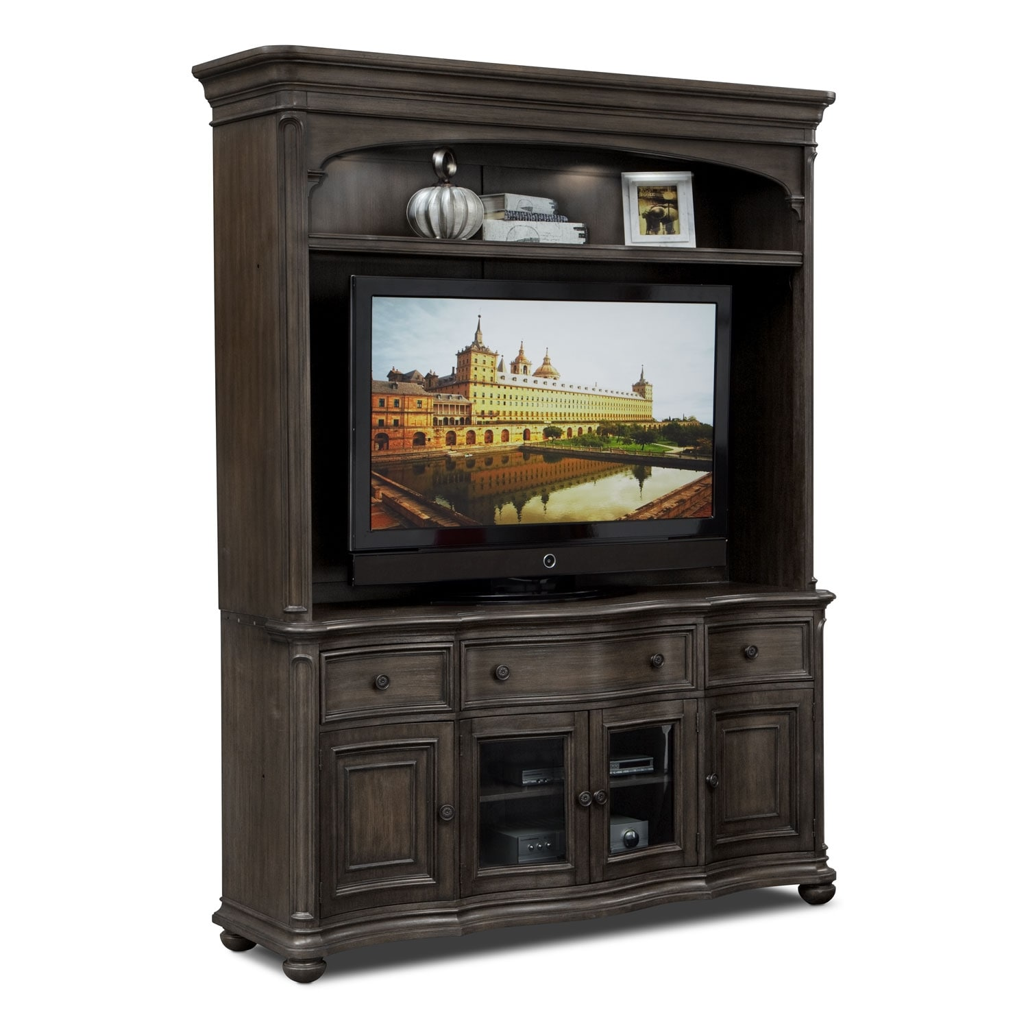 Highland Entertainment Wall Units 2 Pc Entertainment Wall: wall unit furniture