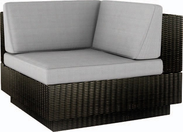 "Outdoor Furniture - Parkview Patio ""L"" Seat - Black"
