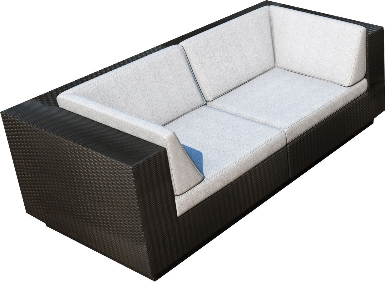 Outdoor Furniture - Parkview Patio Sofa Set - Black