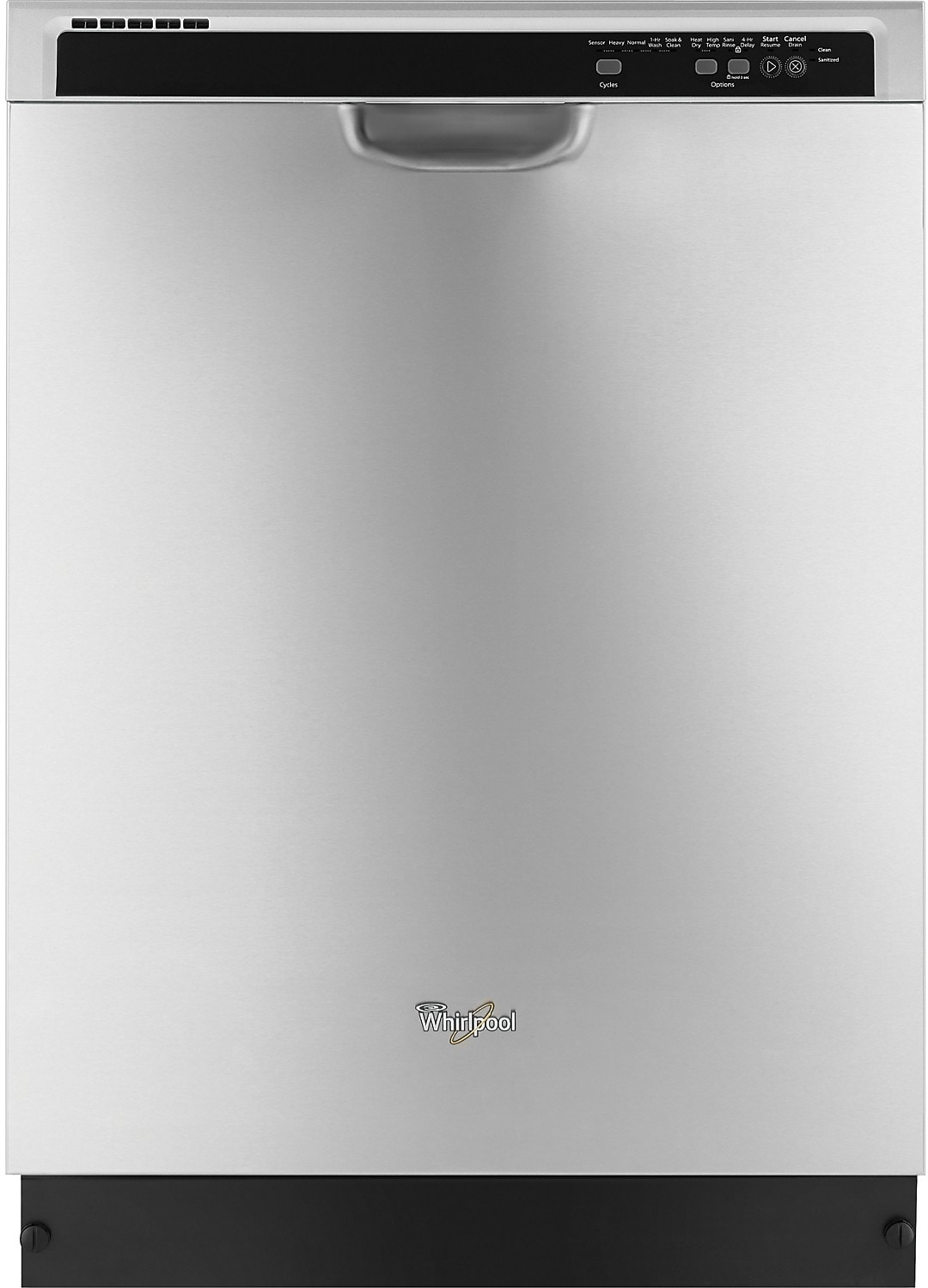 "Whirlpool 24"" Built-In Dishwasher – Stainless Steel"