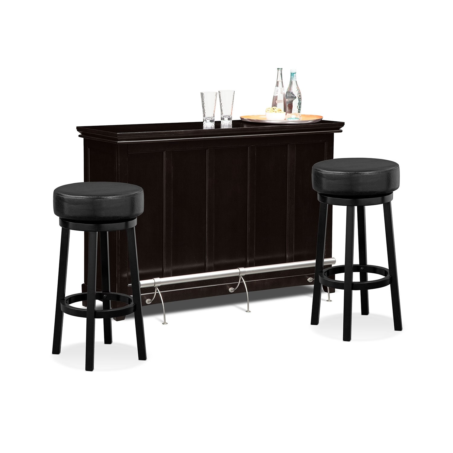 Carlton Ii Monitor Dining Room 3 Pc Bar Set Value City Furniture