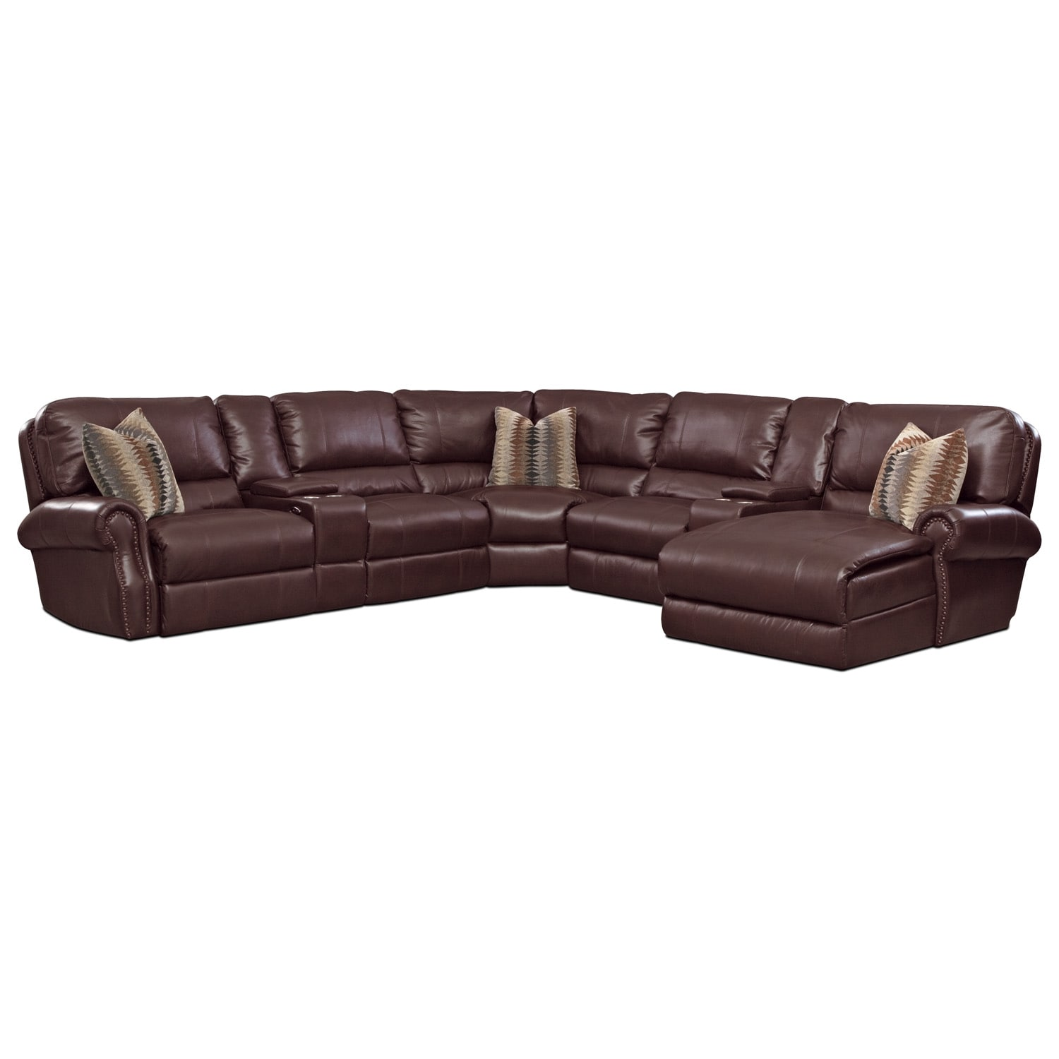 [Princeton 5 Pc. Power Reclining Sectional]