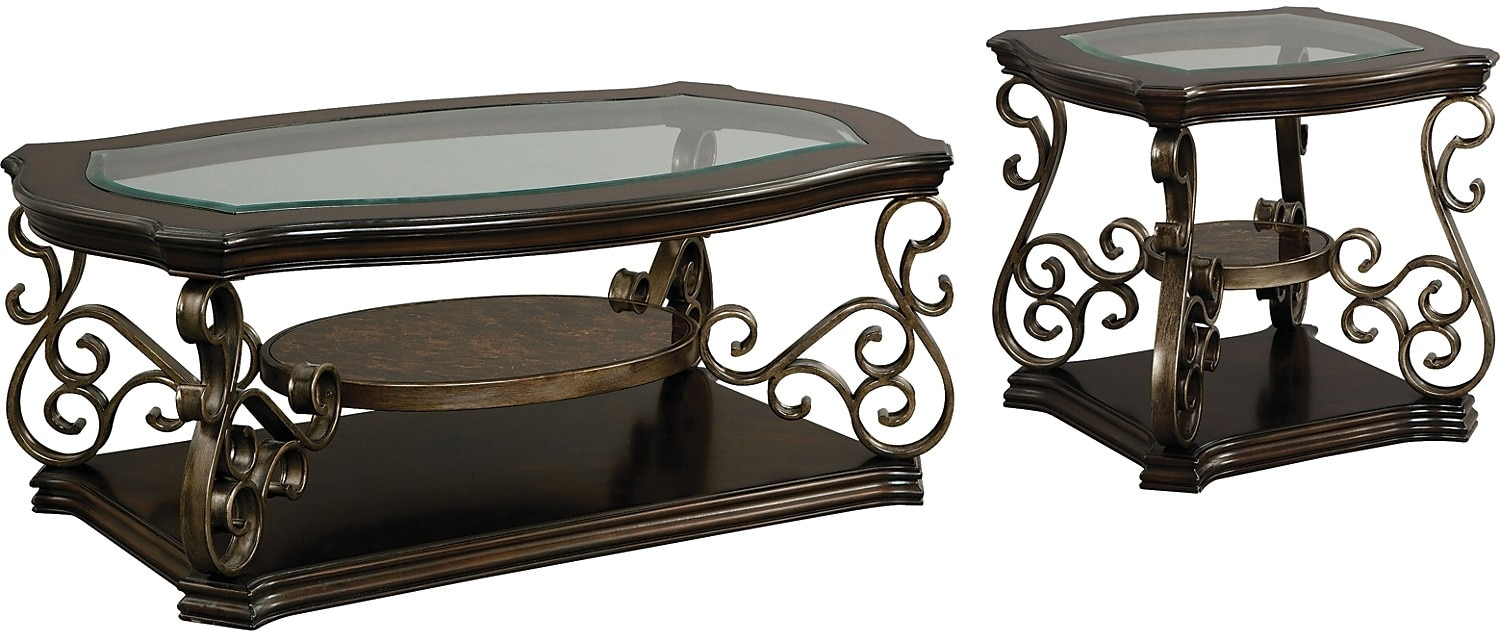 Accent and Occasional Furniture - Clermont 2-Piece Coffee and End Table Package