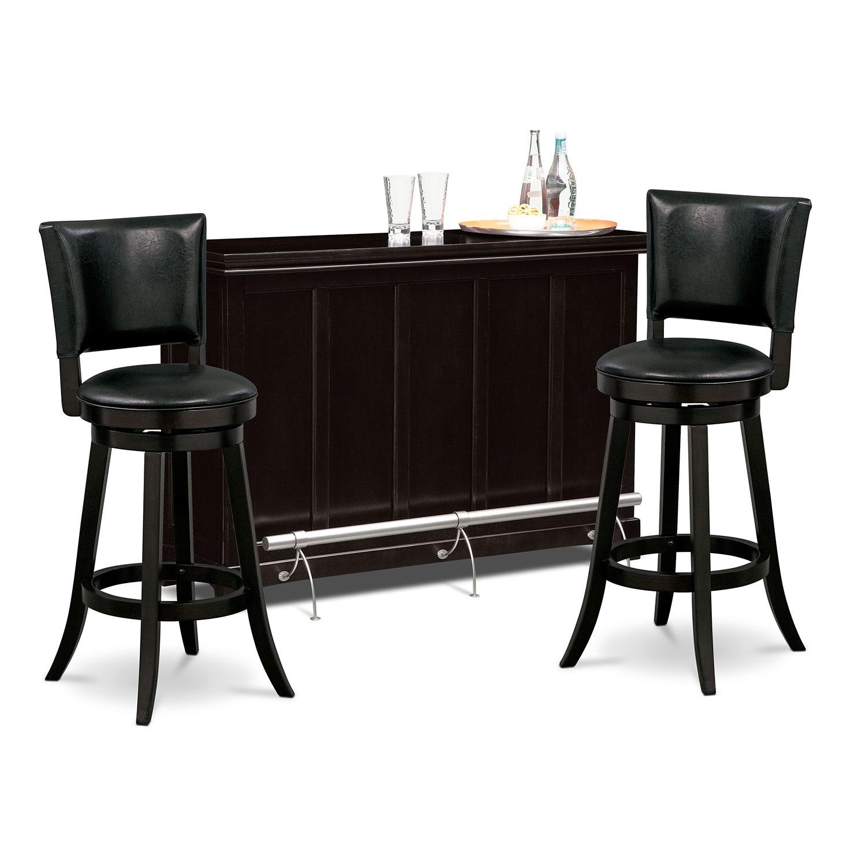 Bond ii locke 3 pc bar set for 3 pc dining room set