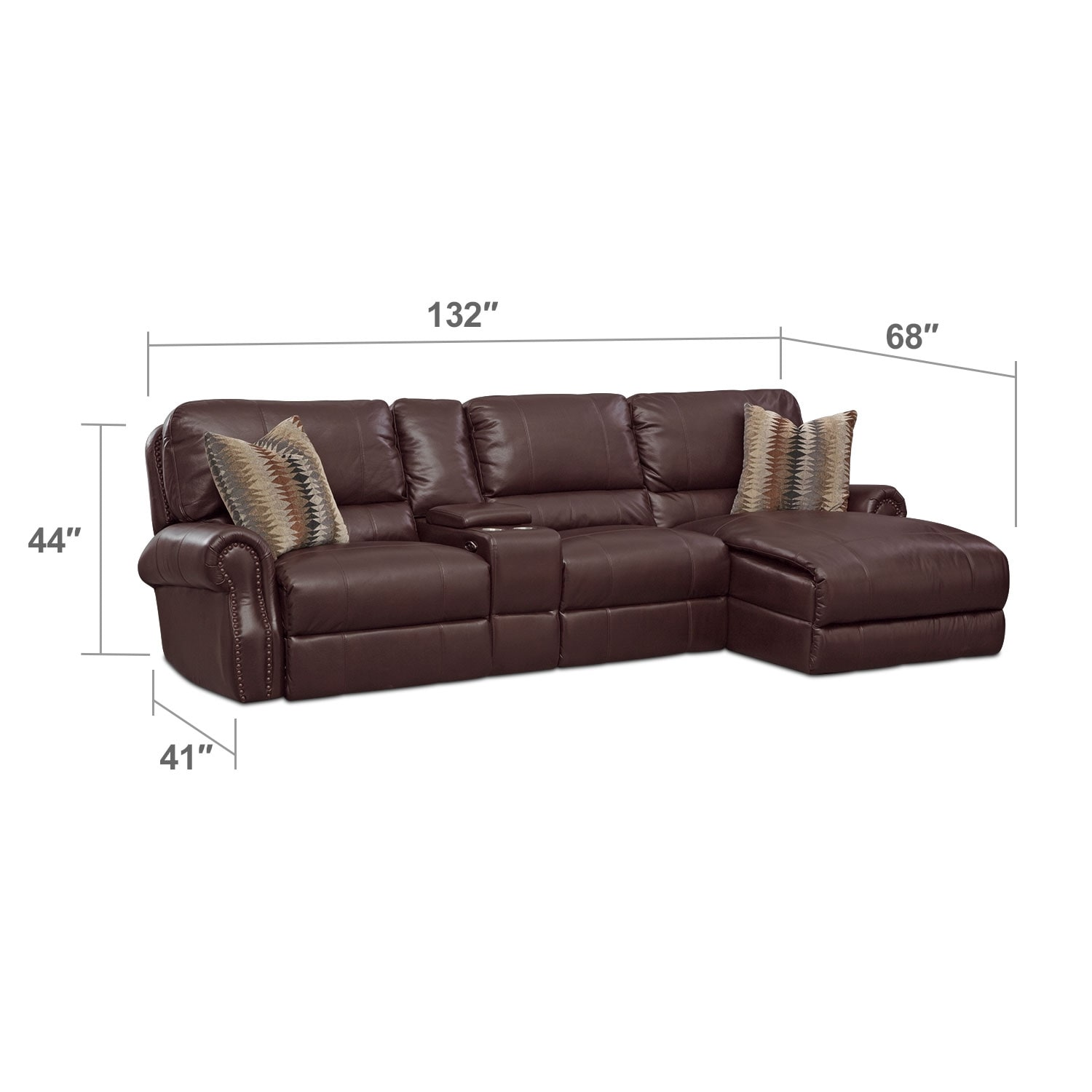 Princeton 2 Pc Power Sectional American Signature Furniture