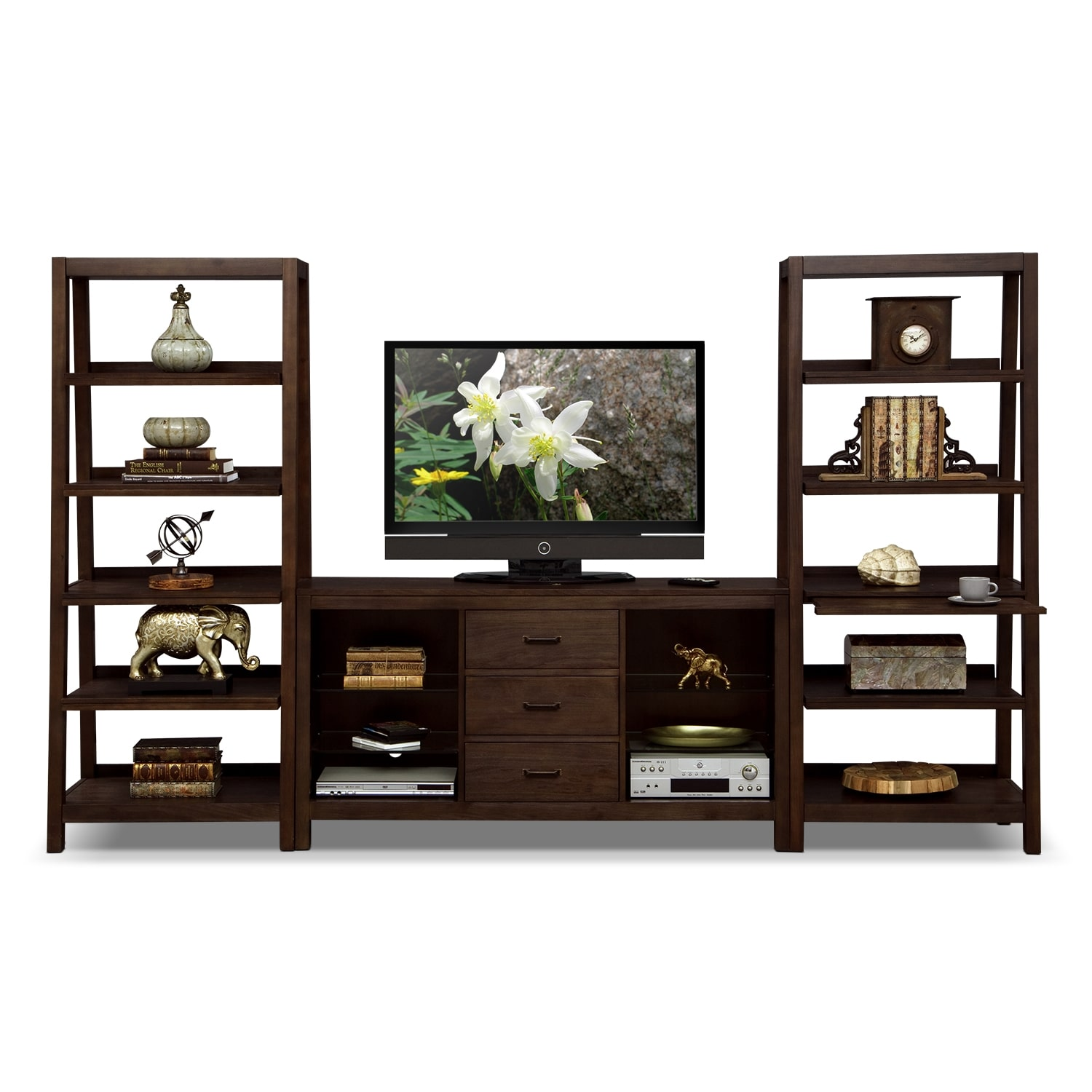 Camryn entertainment wall units 3 pc entertainment wall Wall unit furniture