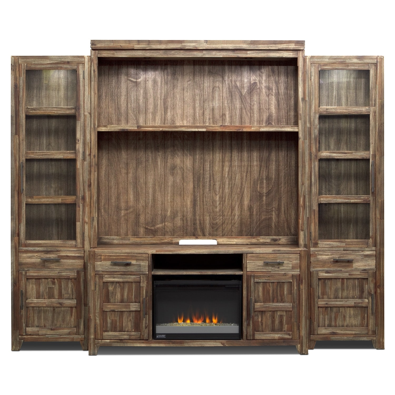 Brentwood Entertainment Wall Units 5 Pc Entertainment Wall Unit W Fireplace